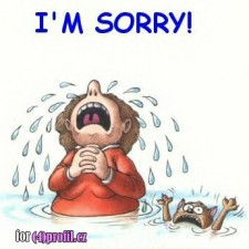 Omlouvám se!